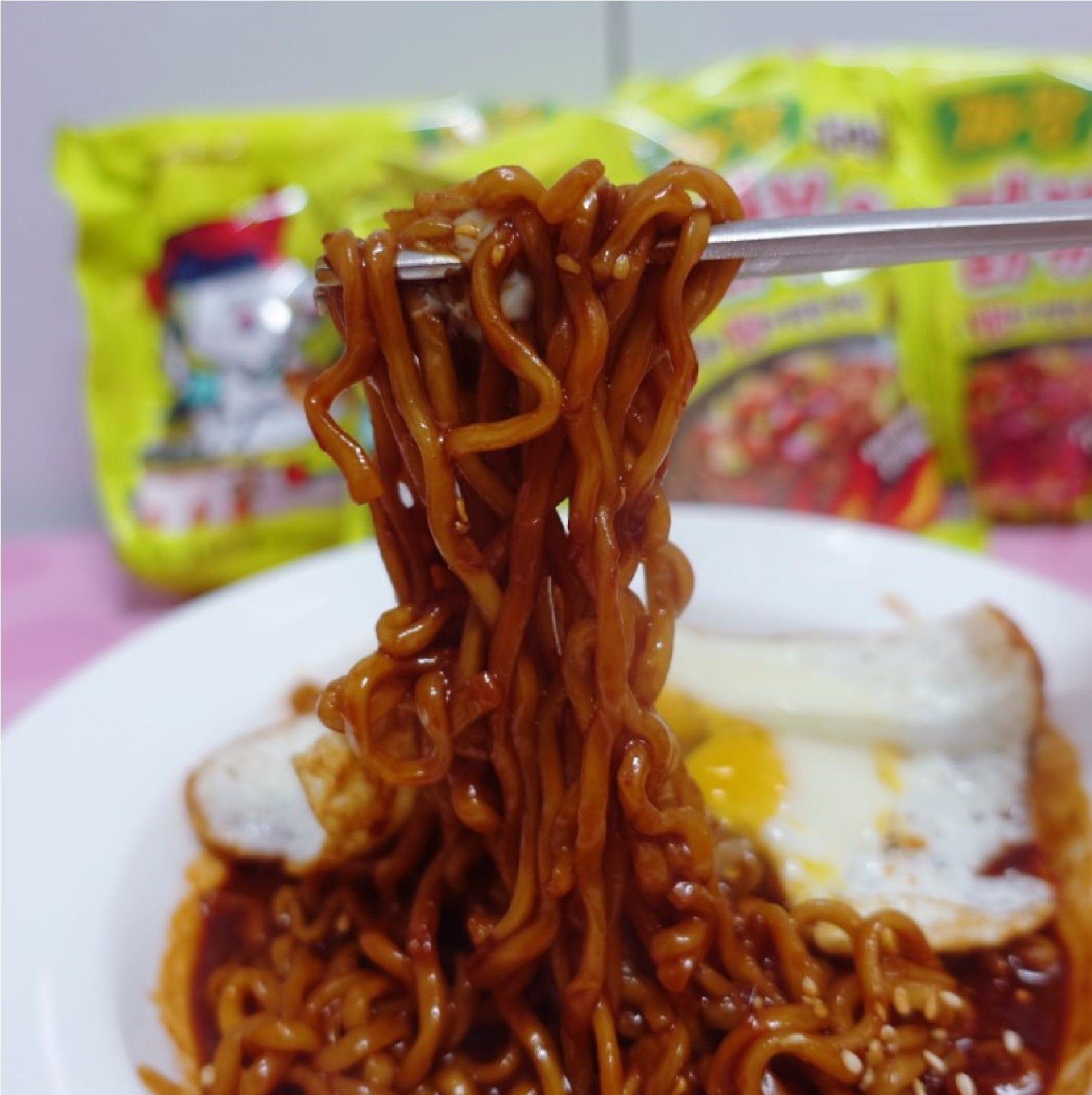 NEW SAMYANG KOREAN Fire Noodle Challenge Hot Chicken Flavor Ramen Spicy  Jjajang.