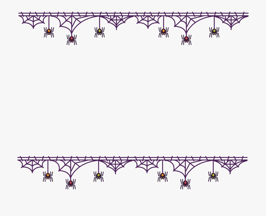 Png Download Spider Web Border Clipart.