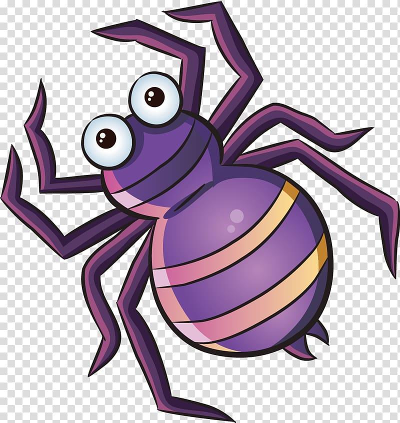 Purple spider, Spider Cartoon, Spider transparent background.