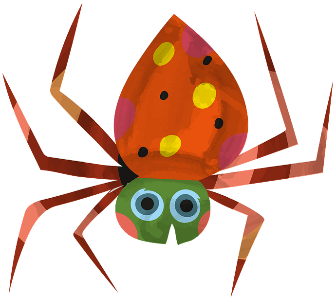 Spider clipart. Free download..