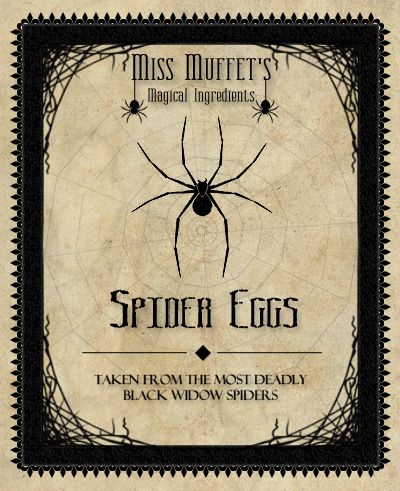 Printable ~Spider Eggs. Idea: Put this on a Jar filled with the.