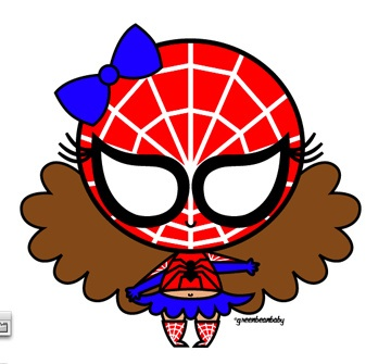 Spider Girl Free Clipart.