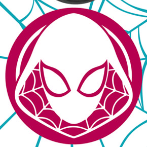 Spider Gwen Emblem Web design on OtterBox® Commuter Case for iPhone 7.