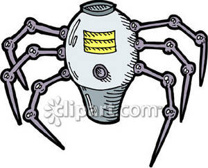 Clipart Picture of a Robot Spider.