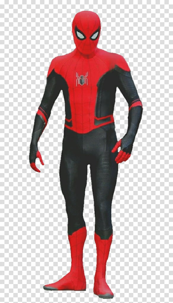 Spider Man Far from Home shield suit transparent background.