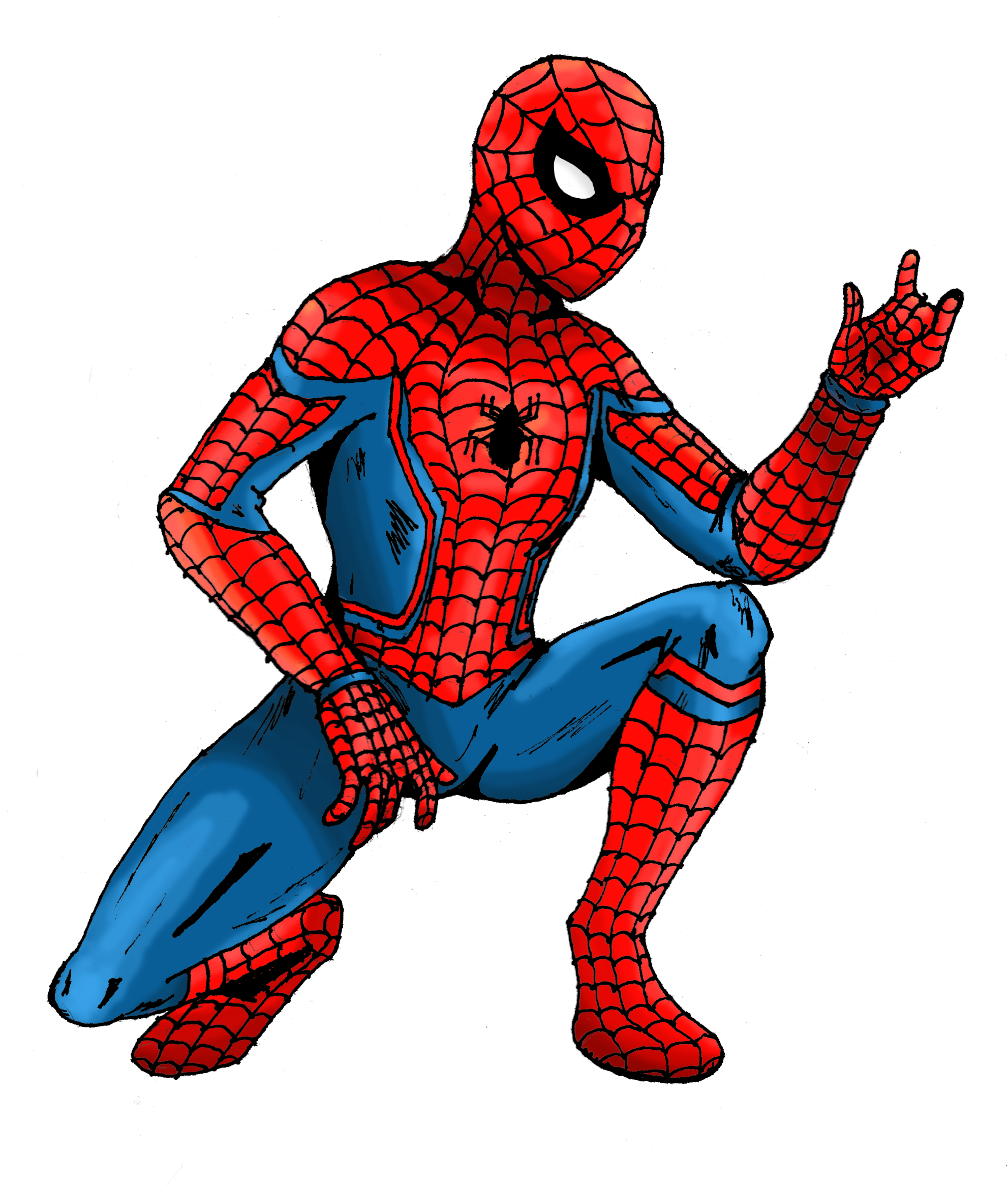 Old Classic Spiderman Costume Png Clipart #47367.