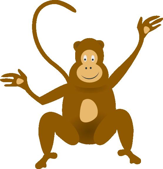 Spider Monkey Clip Art.