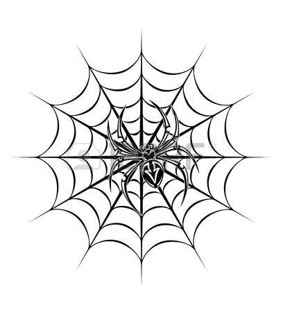 Spider On Web Clipart