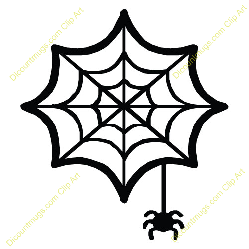 Cute Spider Web Clipart.