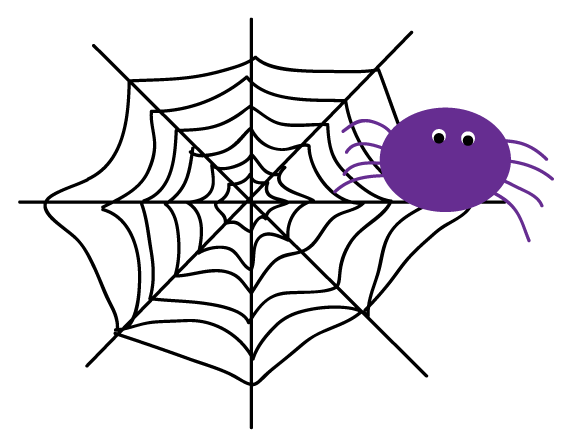 Cute Spider Web Clipart.