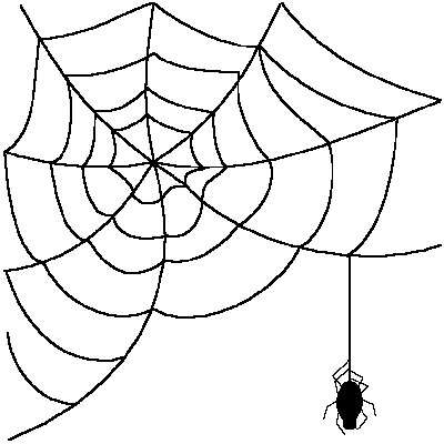 Spider Web Clipart Transparent.