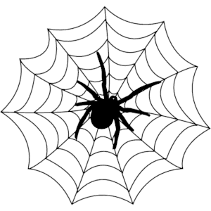 Cute spider web clipart free clipart images clipartix.