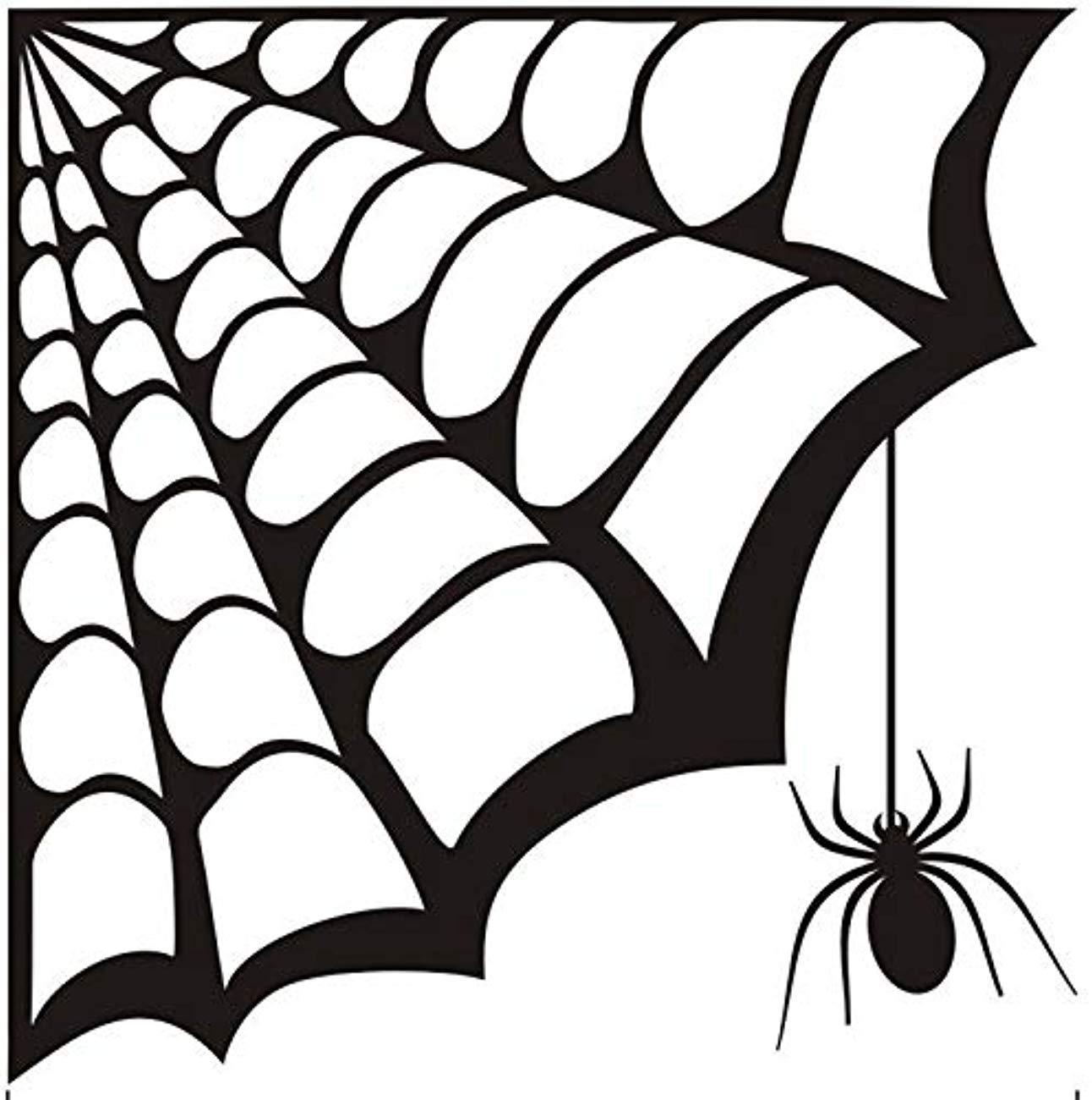 Amazon.com: Bro Decals Wall Vinyl Decal Spider Web Corner.