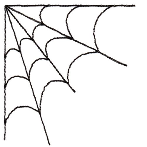 Corner Spider Web Clipart.
