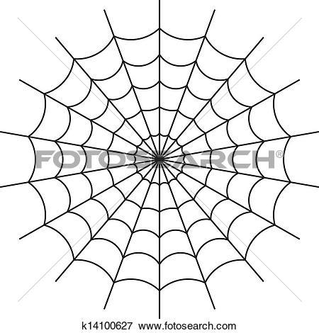 Clip Art of spider web vector k14100627.
