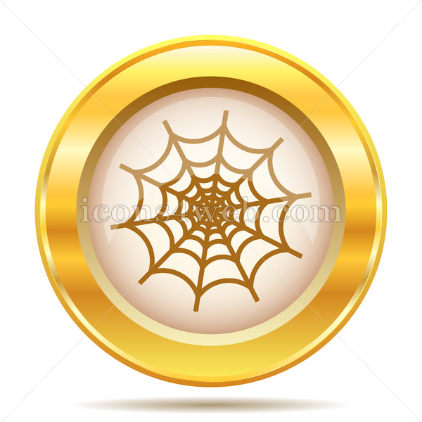 Spider web golden button.