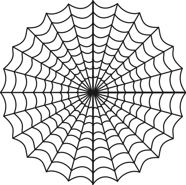 Spiders Web clip art Free vector in Open office drawing svg.