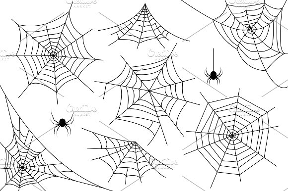 Ai+PNG..Halloween spider web. Vector.