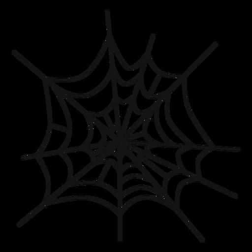 Spider web hand drawn.