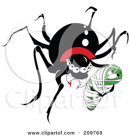 Black Widow Vampire Spider With Prey Posters, Art Prints by.