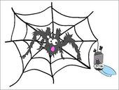 Clipart of Spider and prey k13008764.