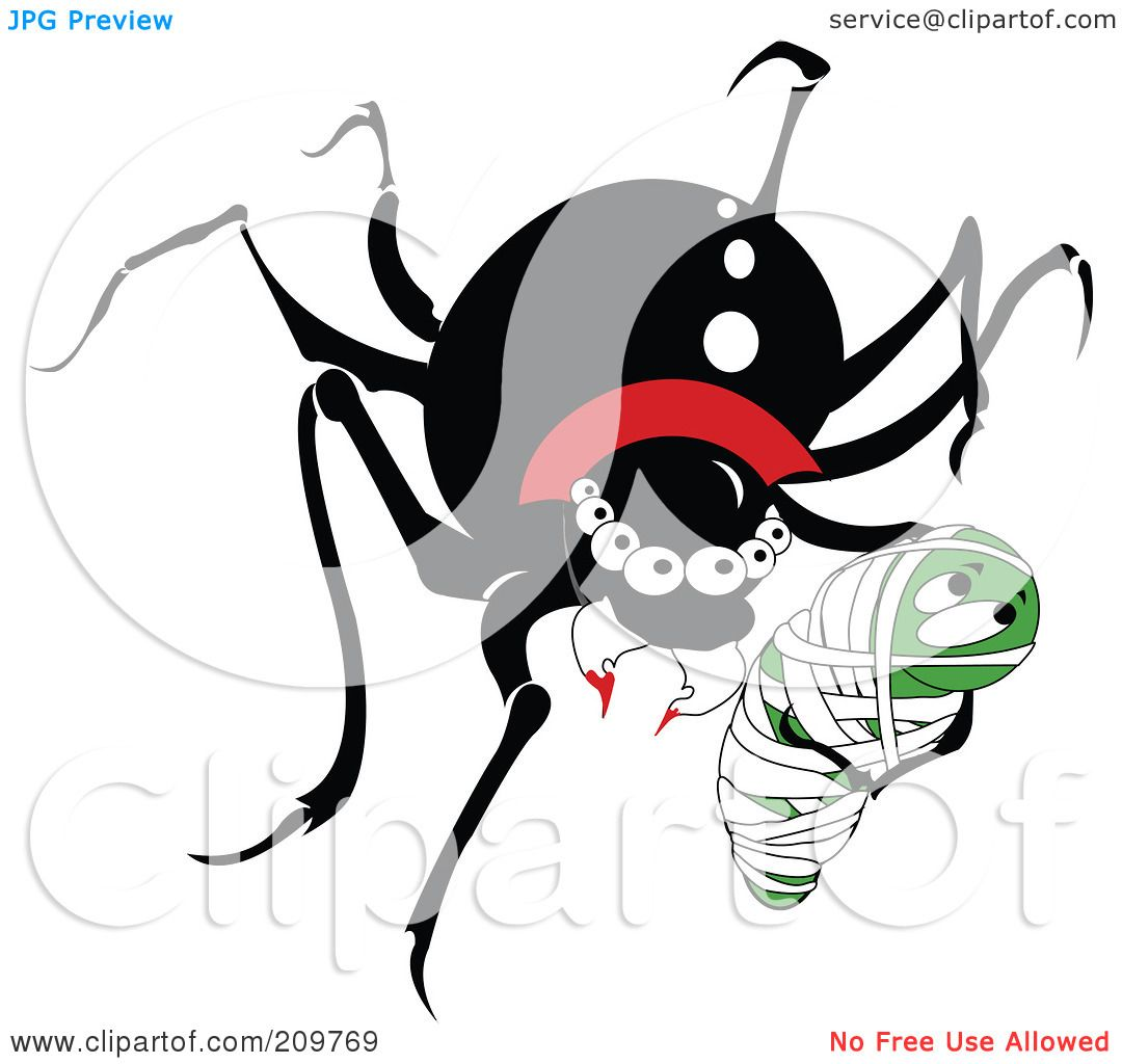 Spider with prey clipart - Clipground Prey Clipart