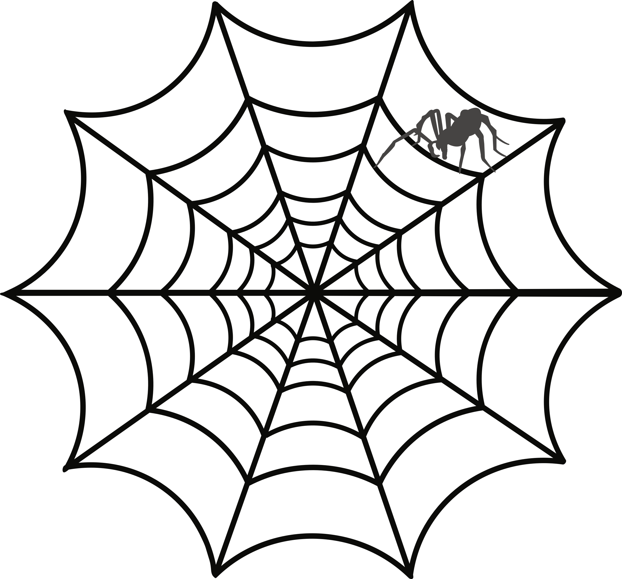 Spider clipart web, Spider web Transparent FREE for download.