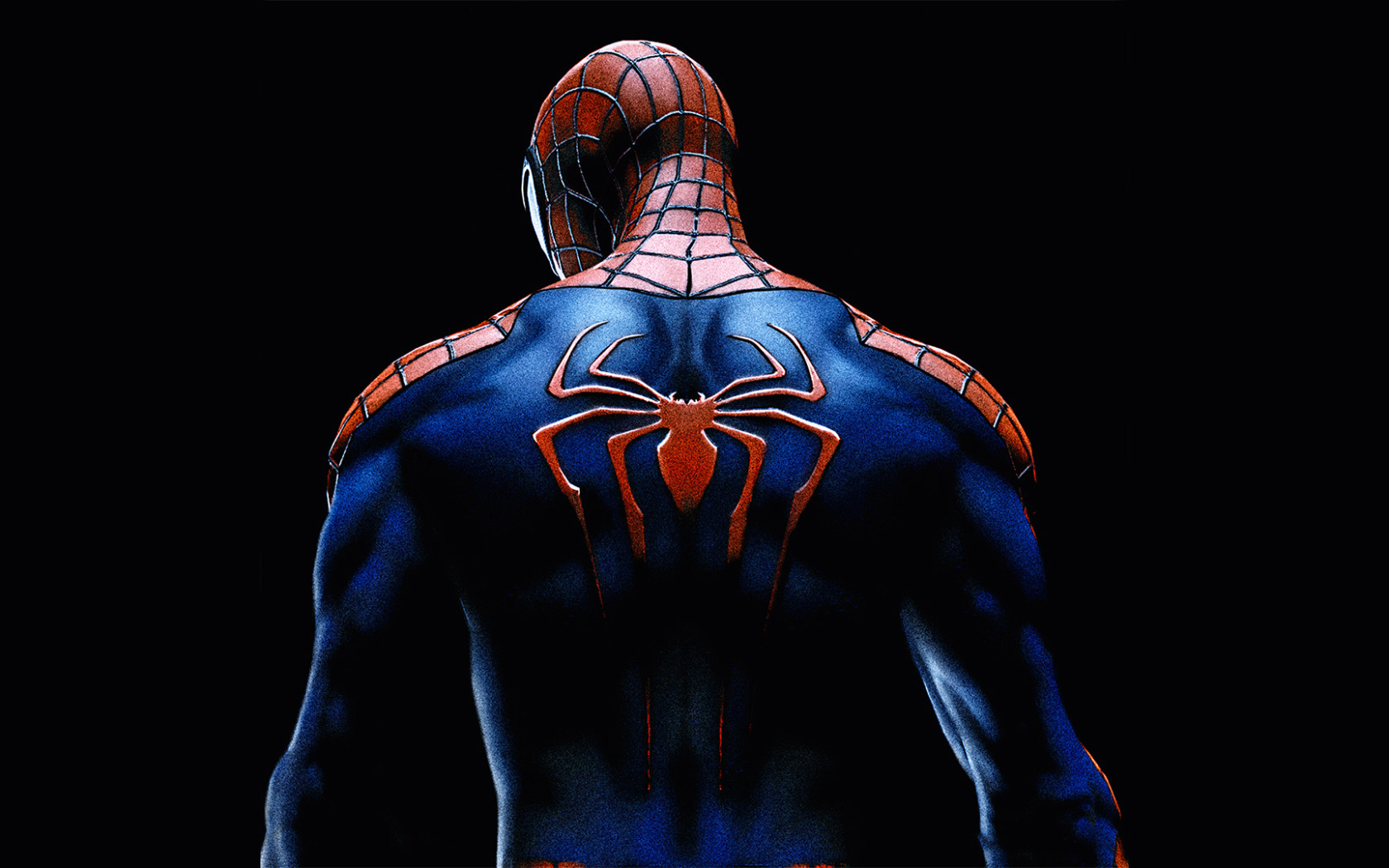 1680x1050 Spiderman Back Spider Logo 1680x1050 Resolution HD.