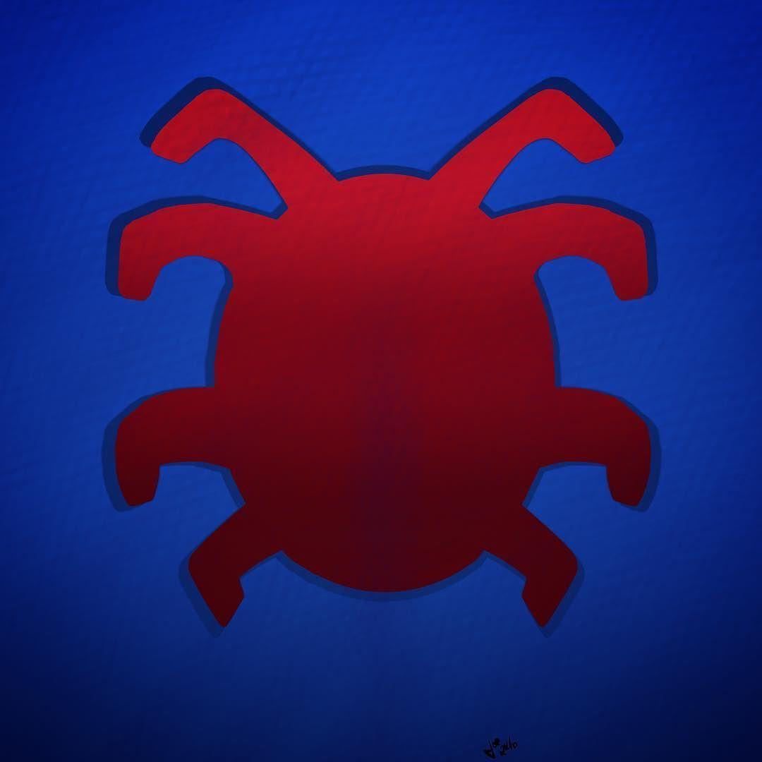 New spiderman back emblem/logo sketch. by thenerdestsupply.