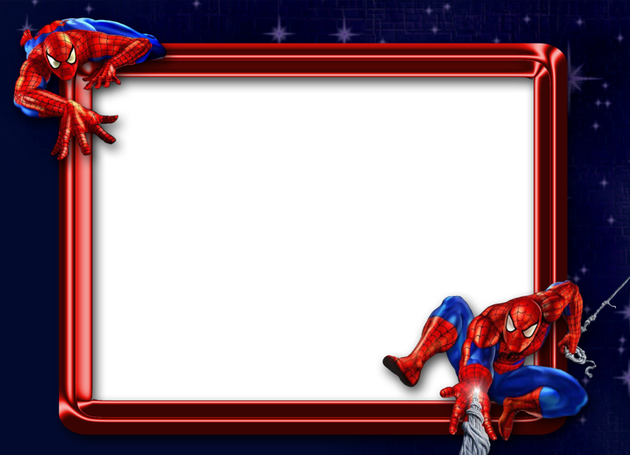 Download Spiderman Photo Frame Png Clipart Spider.
