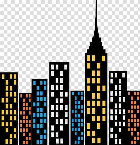 High rise building illustration, Hulk Spider.
