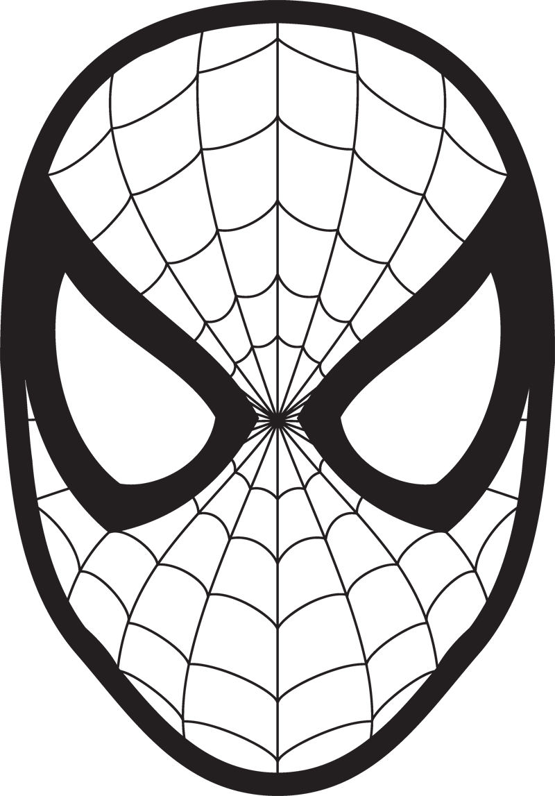Spiderman clipart black and white » Clipart Station.