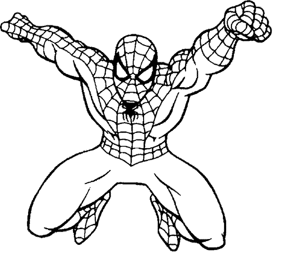 Printable spiderman coloring pages clipart easy png.