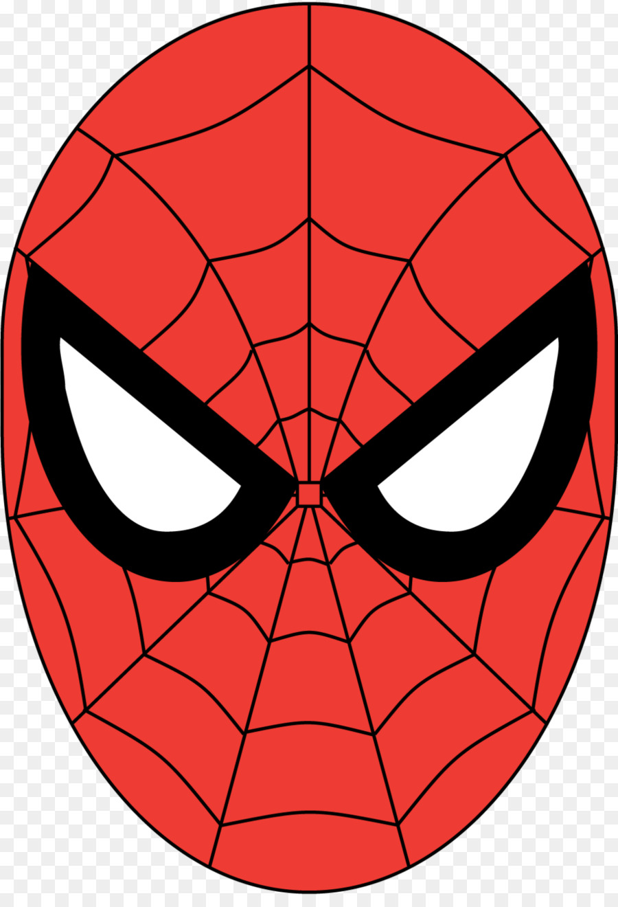 Spiderman face clipart 5 » Clipart Station.