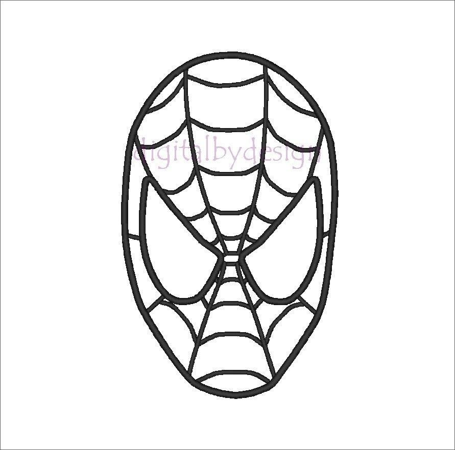 Spiderman clipart outline.