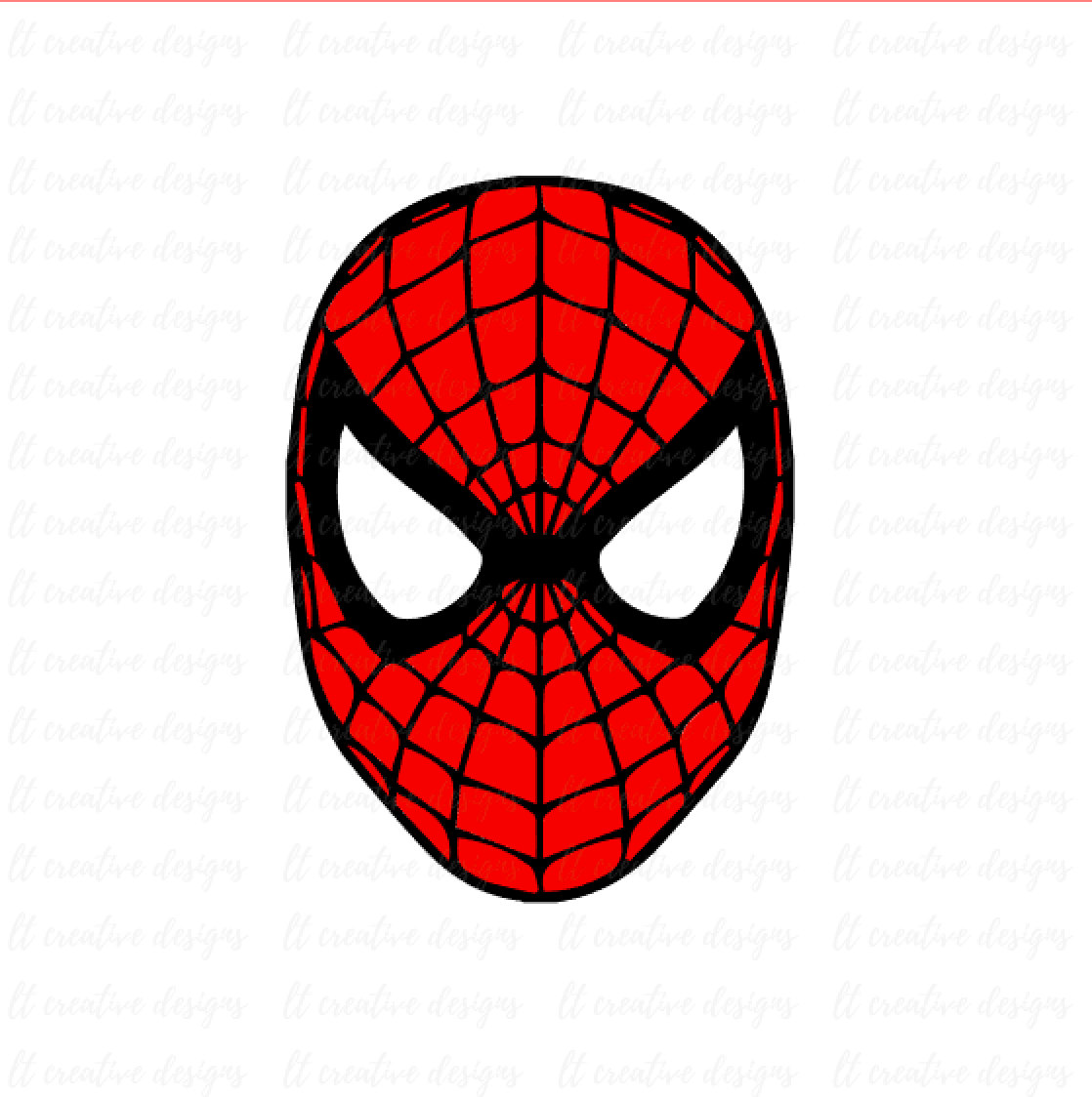 Spiderman Face Clipart.