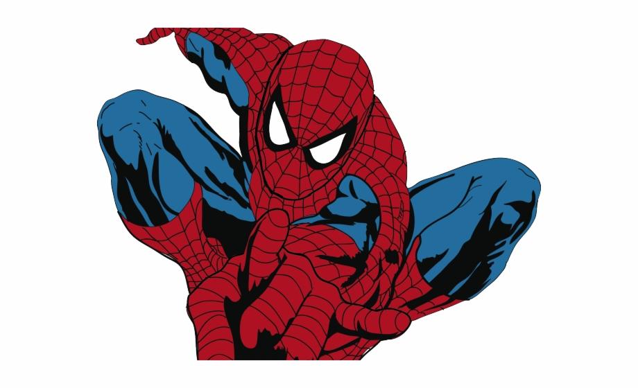 Iron Spiderman Clipart Vector.