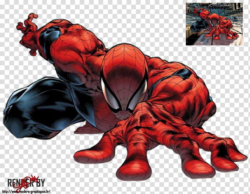 Spiderman Comics transparent background PNG clipart.