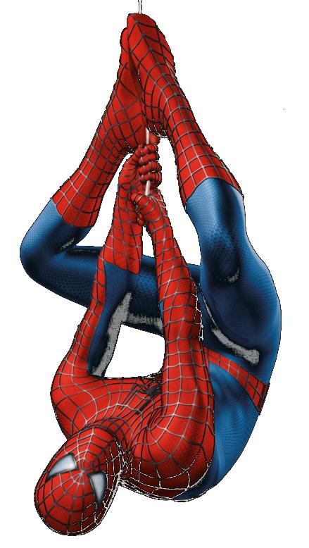 Spiderman Upside Down Clipart.