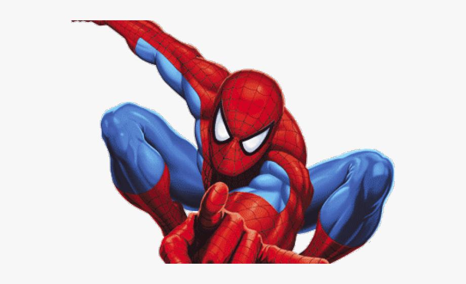 Spider Man Clipart Upside Down.