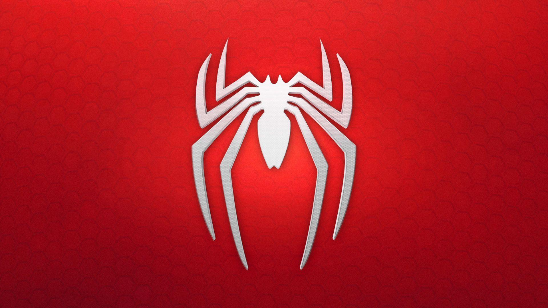 spiderman, logo, background, red, white (horizontal.