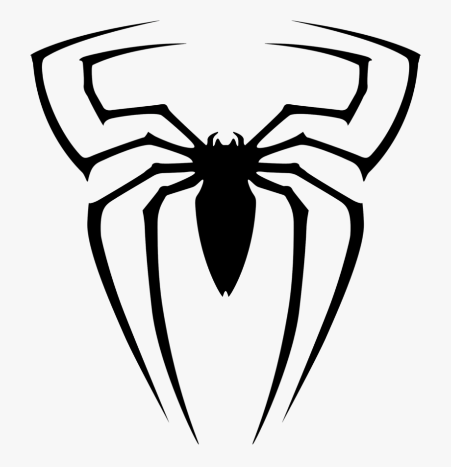 Can Use For Book Cover, Spiderman Clipart Black And.