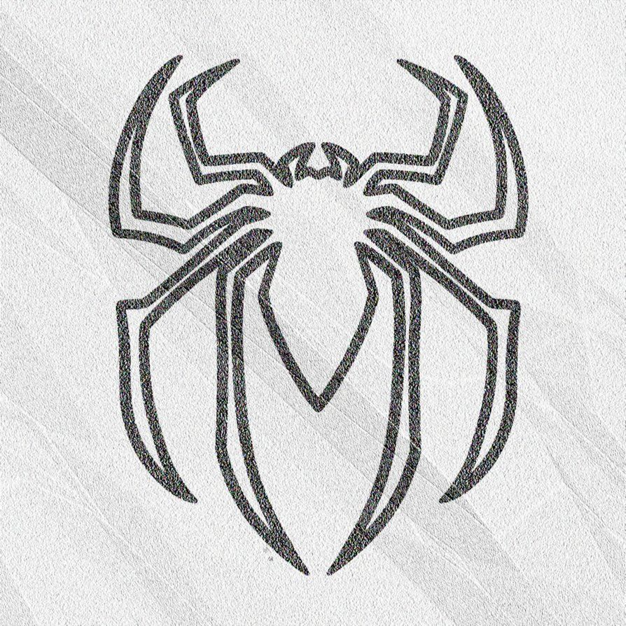Images For > How To Draw Spiderman Logo.