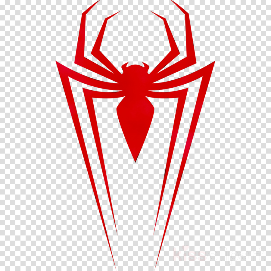 Spiderman Line Drawing clipart.