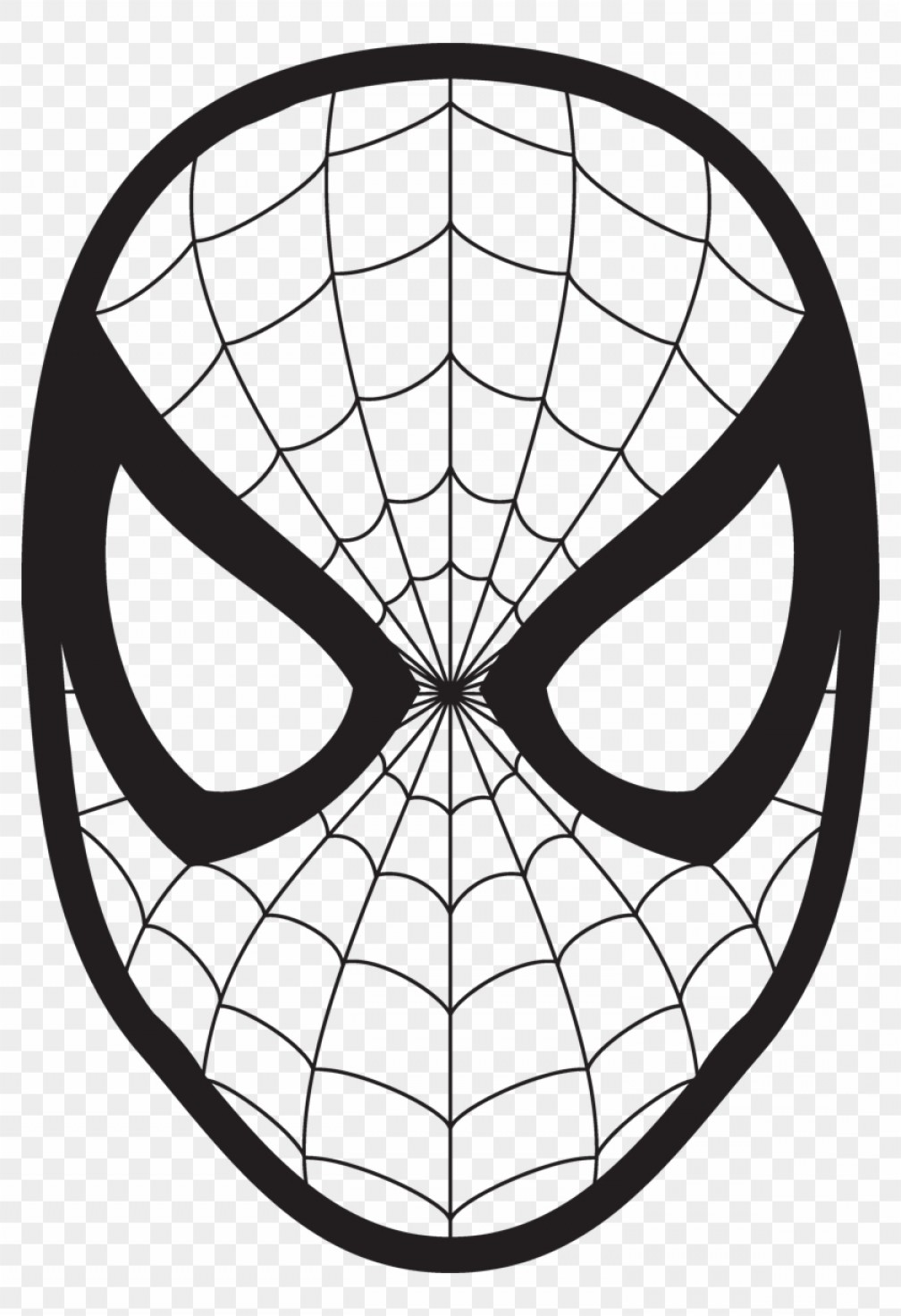 Spider Man Vector Face.