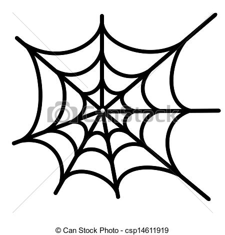 Vector Clip Art of spider net vector background csp14611919.