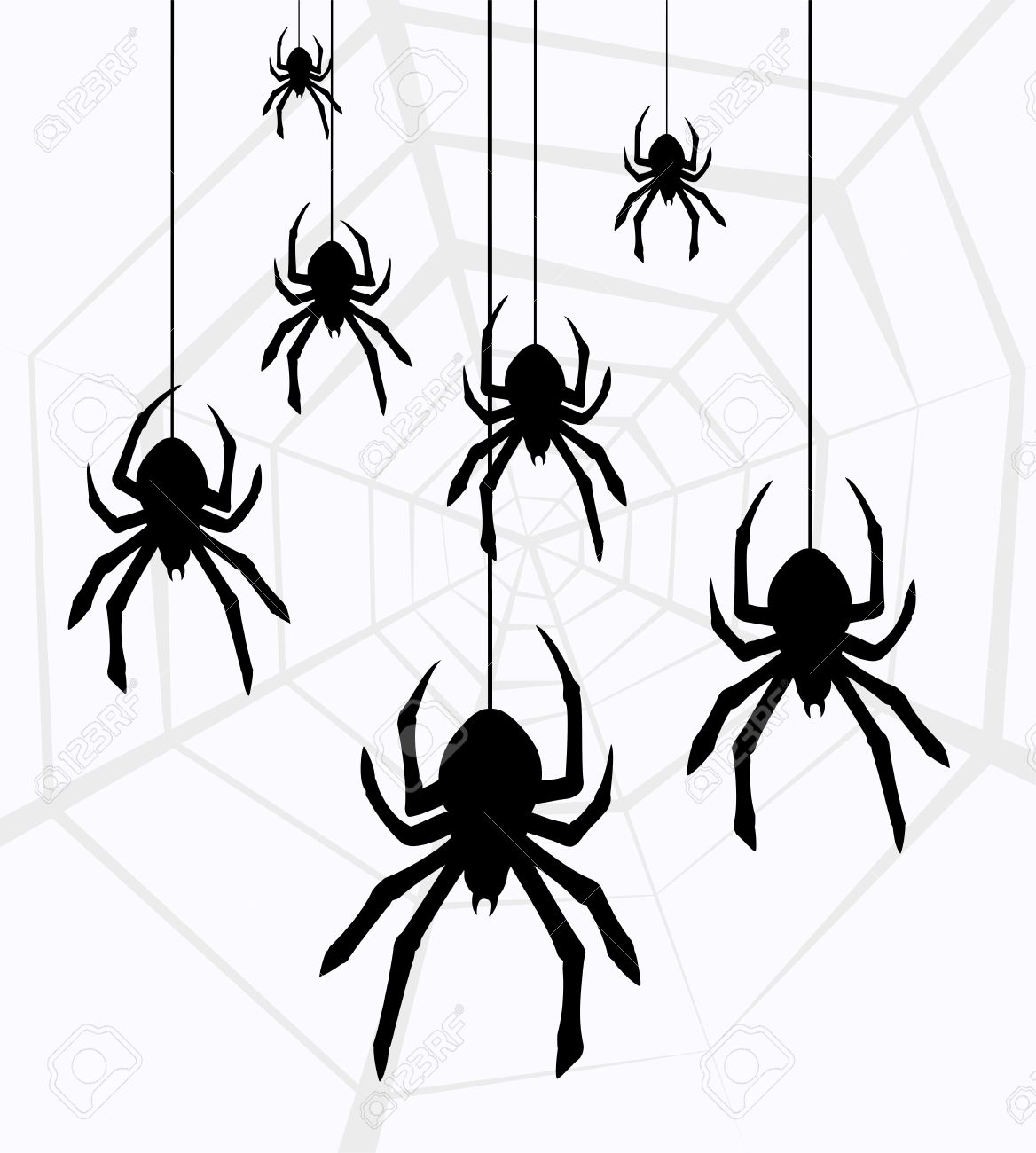 Spiders clipart.