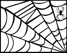 Free Halloween Spider Web Clipart.