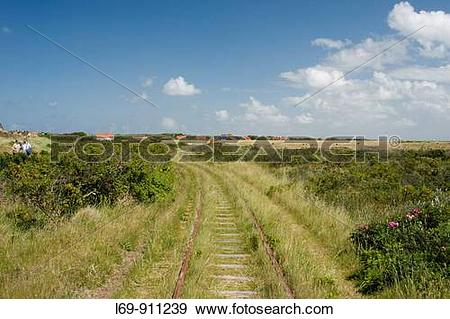 Stock Photograph of Railroad tracks from historic horse.