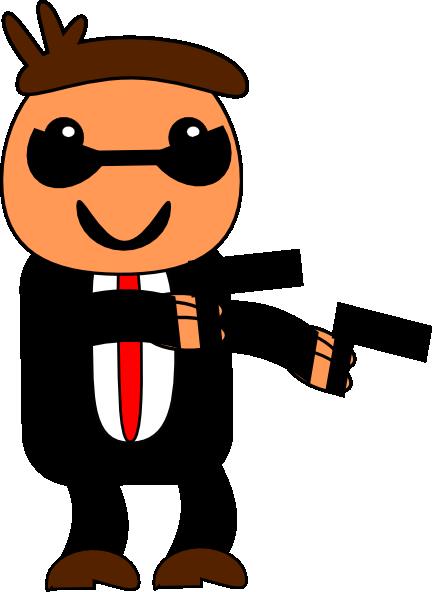 Spy In Black Suit Clip Art at Clker.com.